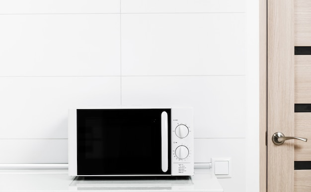 White microwave oven