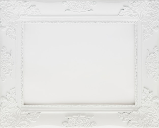 White minimalist frame with empty space