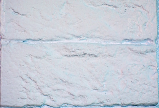 배경 또는 질감을 위한 흰색 안개 벽돌 벽입니다.