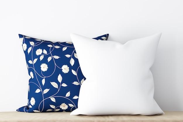 あなたの製品を紹介する白いモックアップ枕