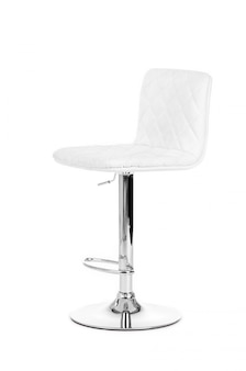 White modern bar chair isolated over white background