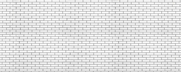 White modern brick wall panoramic background. backdrop for office design