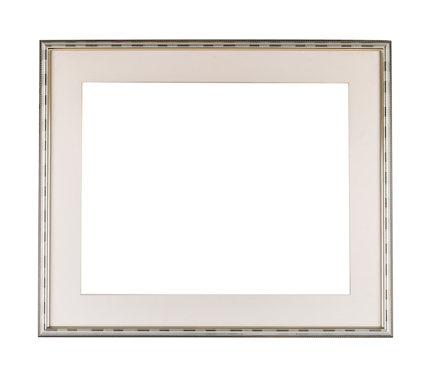 White modern frame on white surface