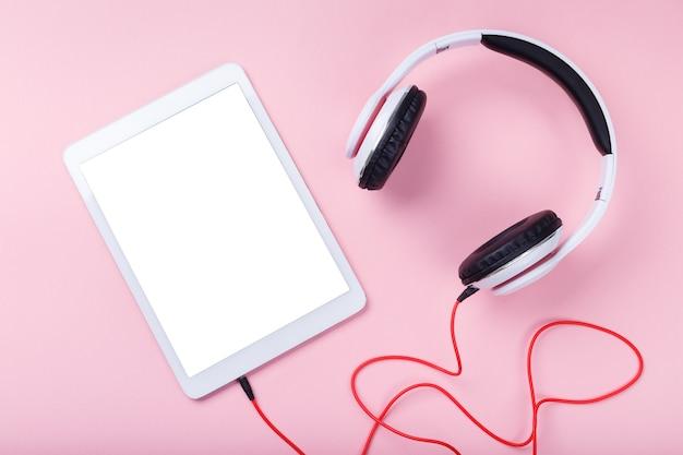 White modern headphones