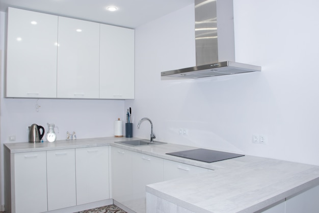 White modern kitchen.