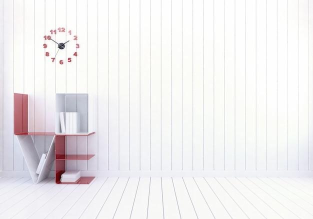 White modern room interior