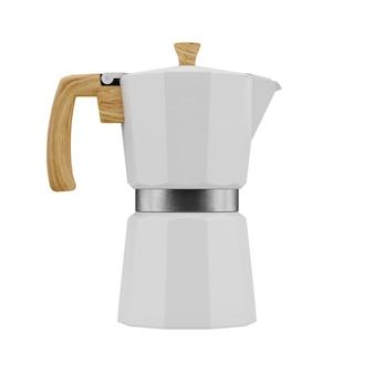ホワイトモカポットコーヒーマシン3dレンダリング