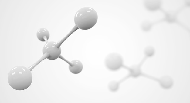 White molecule or atom background
