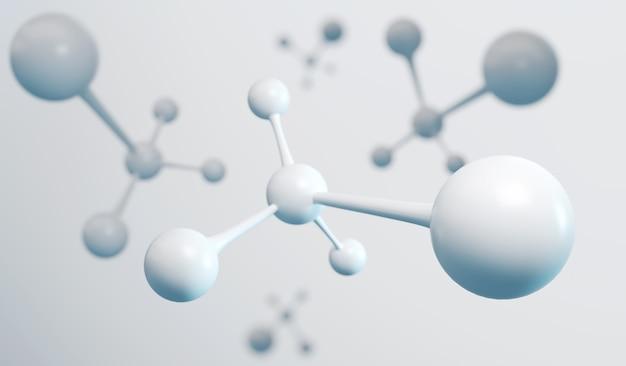 백색 분자 또는 원자