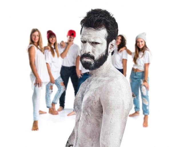 Белый монстр с бородой