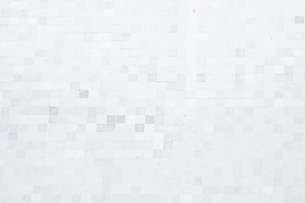 White mosaic of wall pattern