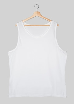 화이트 머슬 셔츠 스트리트 패션