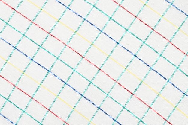 White napkin isolated on white surface