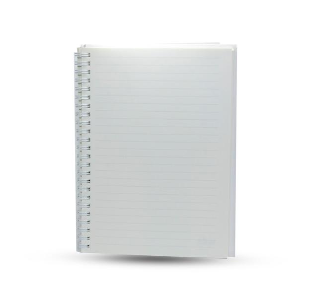 Белый блокнот на белом