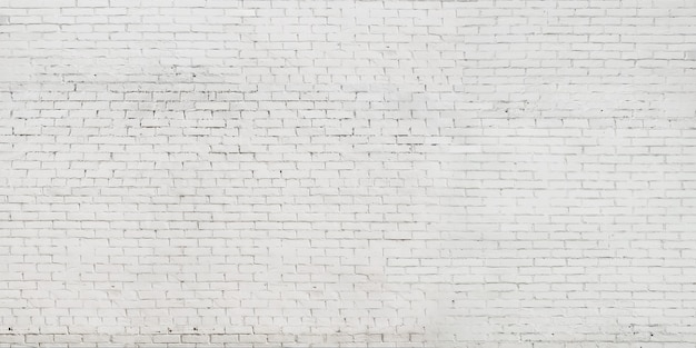 White old background brick wall. banner wall or texture