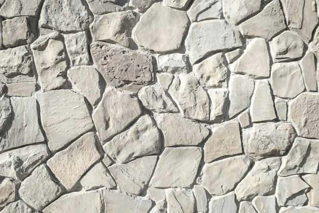 White old brick stone wall for texture or background
