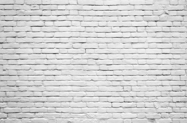 White old brick wall for texture or background