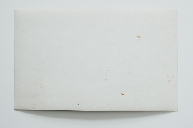 White and old photo card, on a white background.