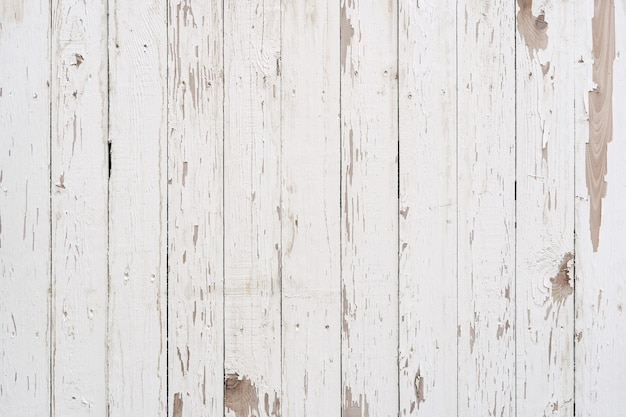 White old weathered painted wood texture panel vintage pattern.