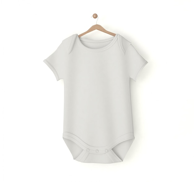 White onesie on a hanger