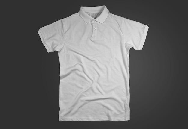 Белая открытая рубашка-поло