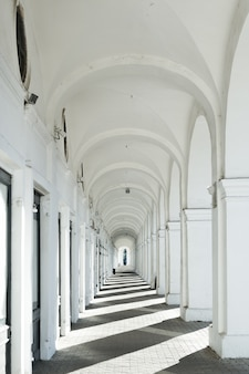 White  outdoor colonnade