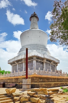 White pagoda in  beihai park, near the forbidden city, beijing.china