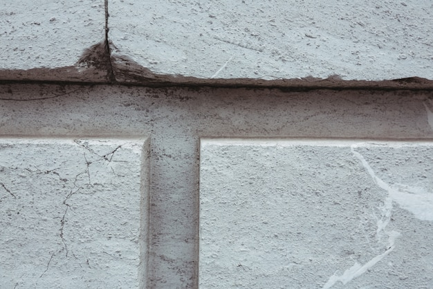 Verniciato bianco pietra parete di fondo