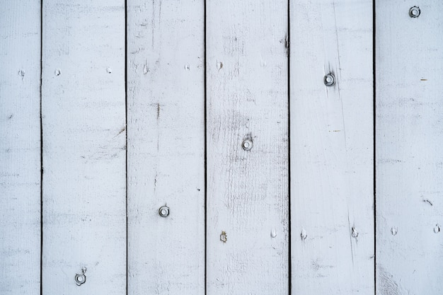 White painted wood wall for background and texture.
