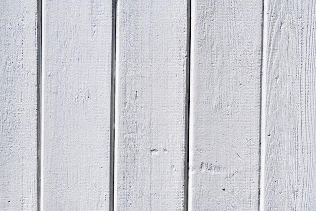 白く塗られた木製の織り目加工の背景