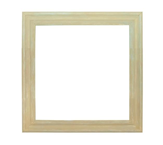 Белая картина холст рамка, изолированные на белом