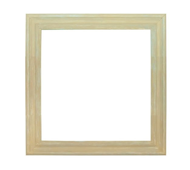White painting canvas frame isolated on white