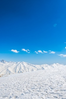White panoramic scenery cold holiday