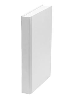 白い背景で隔離の白い紙の本の空白のテンプレート。モックアップ