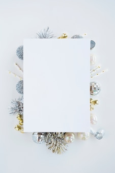 White paper on christmas composition