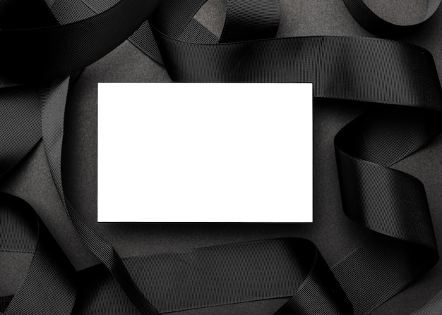 White paper on elegant black background