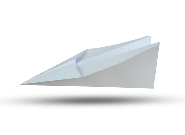 White paper plane isolated on white background and have clipping paths.