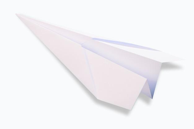 고립 된 흰색 백서 비행기입니다.