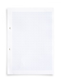 White paper sheet and grid pattern.