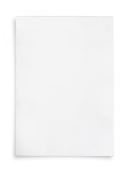 White paper sheet.