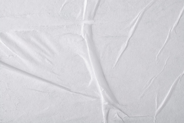 White paper with folds. Premium Photo