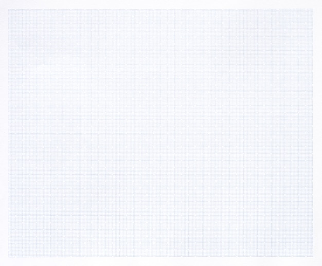 White paper with grid line pattern background.