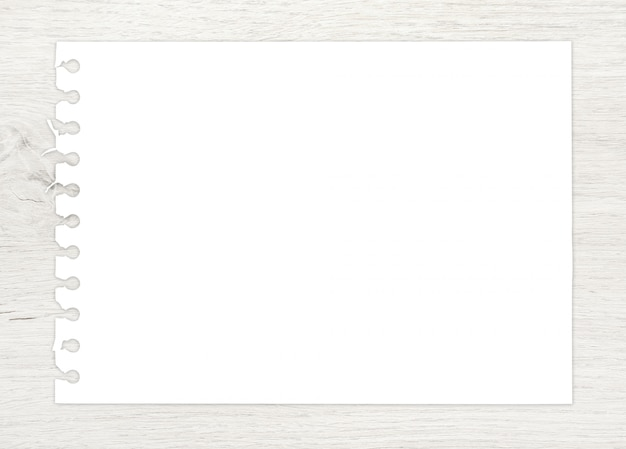 White paper on wood for art and sketch background.