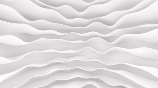 미래의 물결 모양의 줄무늬의 흰색 패턴