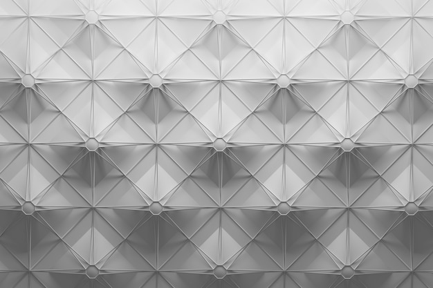 White pattern with large repeating tiles and wireframe mesh on top with square star shape pattern