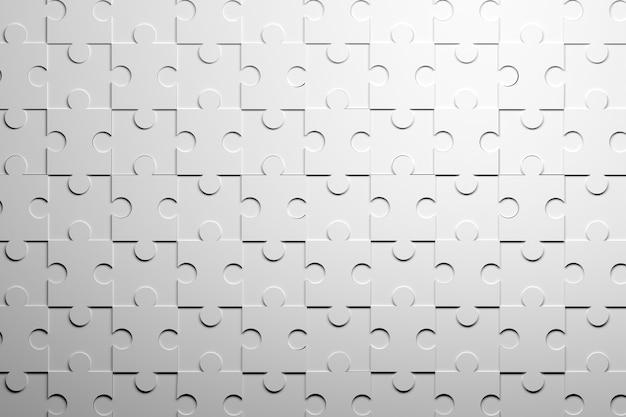 Белый узор с повторяющимися частями головоломки. 3d иллюстрации.