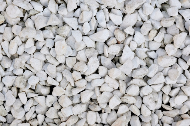 White pebble space and texture.