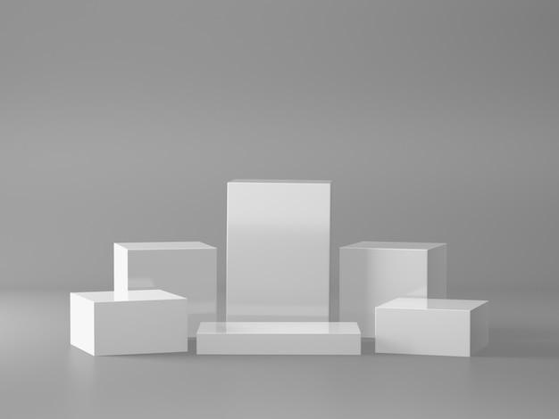 White pedestal for displa