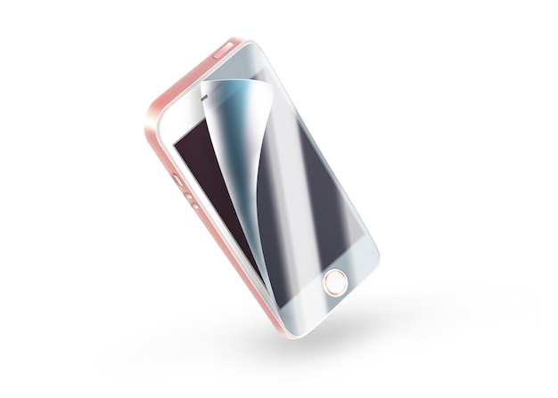 White phone protection on screen