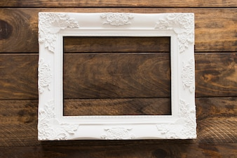 White photo frame with flower patterns